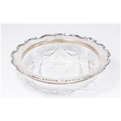 Gorham Sterling Silver Rim Cut Glass Bowl
