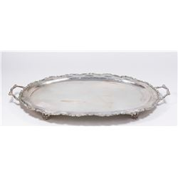 Sterling Silver Footed Serving Tray with Handles