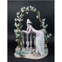 Lladro In the Balustrade Figure