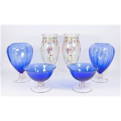 3 Pairs of Venetian Glass Vases