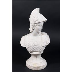 Marble Bust of a Soldier on Base