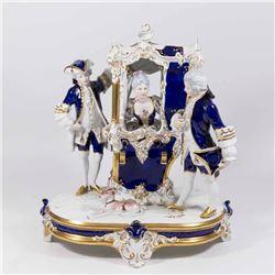 Royal Dux Cobalt Blue Grouping