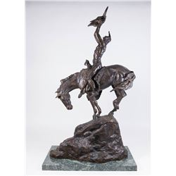 """Charles M. Russell Bronze, """"Quest Vision"""""""