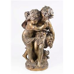 Bronze Grouping of Boy & Girl