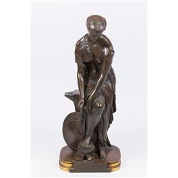 Emile Hebert, Thetis Bronze Neoclassical Sculpture