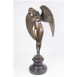 Bronze Angel on Marble Base