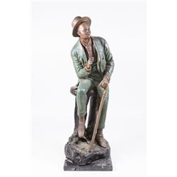 African-American Vaudeville Actor Patinated Bronze