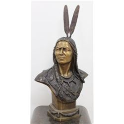 Large Indian Bronze Bust