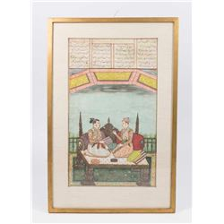 Fine Indian Mogul Style Double-Sided Miniature