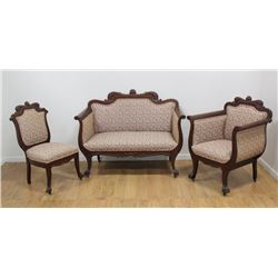 3-Piece Parlor Set with Dolphins