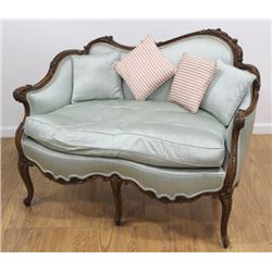 French Style Carved Loveseat