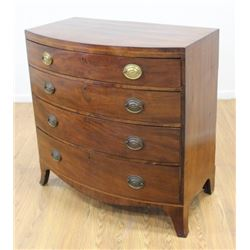 Bowfront English 4-Drawer Dresser