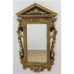 Black & Gold Wood Mirror