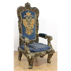 Rococo Style Throne Chair