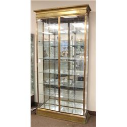 French Brass & Glass Display Cabinet
