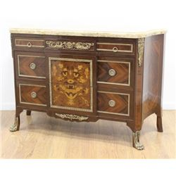 Marble Top French 2-Drawer Commode