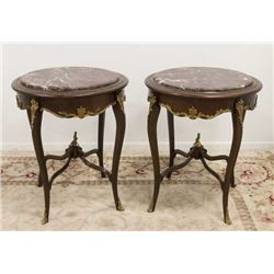 :Pair Louis XV Style End Tables