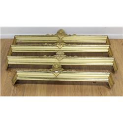 4 Gilded Wood Victorian Valences