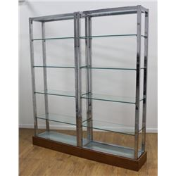 60s Chrome Etagere Display Cabinet
