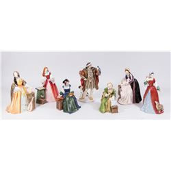 Royal Doulton King Henry VIII & All 6 Of His Wives