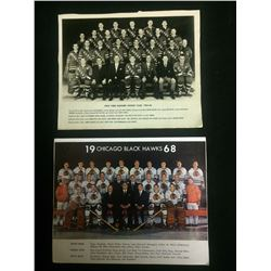 1965-66 NEW YORK RANGERS & 1968 CHICAGO BLACKHAWKS NHL HOCKEY TEAM PHOTOS