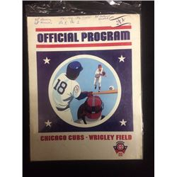 1976 OFFICIAL PROGRAM OF THE CHICAGO CUBS VS LA DODGERS WRIGLEY FIELD