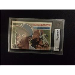 1956 HANK AARON TOPPS BASEBALL TRADING CARD #31 NM 7 MILWAUKEE BRAVES