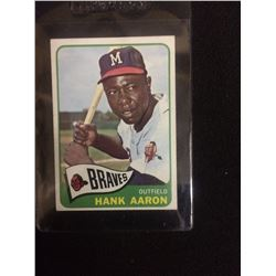 1965 HANK AARON TOPPS BASEBALL TRADING CARD MILWAUKEE BRAVES #170