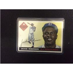 1955 JACKIE ROBINSON TOPPS BASEBALL TRADING CARD #50 BROOKLYN DODGERS
