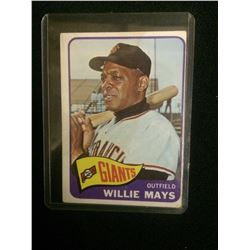 1965 WILLIE MAYS TOPPS BASEBALL TRADING CARD #250 SAN FRANCISCO GIANTS