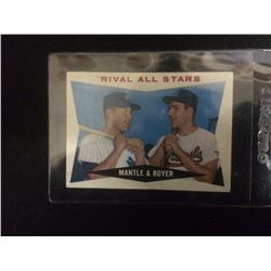 RIVAL ALL STARS MICKEY MANTLE & KEN BOYER BASEBALL TRADING CARD #160