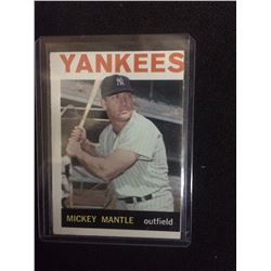 1964 MICKEY MANTLE TOPPS BASEBALL TRADING CARD #50 NEW YORK YANKEES