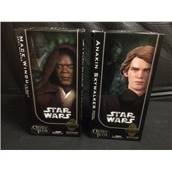 STAR WARS SIDESHOW COLLECTIBLES MACE WINDU & ANAKIN SKYWALKER FIGURES BRAND NEW IN BOX
