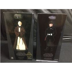 STAR WARS SIDESHOW COLLECTIBLES OBI WAN KENOBI & COMMANDER PRAJI FIGURES BRAND NEW IN BOX