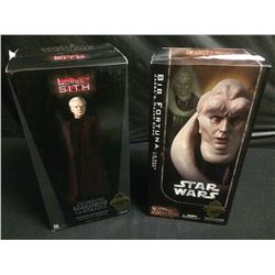 STAR WARS SIDESHOW COLLECTIBLES CHANCELLOR PAPLATINE & BIB FORTUNA FIGURES BRAND NEW IN BOX
