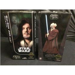 STAR WARS SIDESHOW COLLECTIBLES QUI-GON JINN & PLO KOON FIGURES BRAND NEW IN BOX