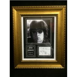 "1980 SIGNED &  FRAMED JOHN LENNON 8"" X 8"" PHOTO"