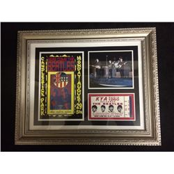 "1966 FRAMED THE BEATLES 5"" X 5"" PHOTO W/ SHOW TICKET & POSTER SAN FRANCISCO"