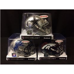 BRAND NEW NFL RIDDELL MINI FOOTBALL HELMETS LOT