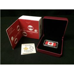RARE CANADIAN 50TH ANNIVERSARY 50$ 50 GRAM SILVER BAR