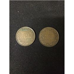 OVERSIZED 1913 CANADIAN PENNIES LOT