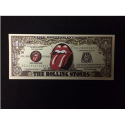 USA NOVELTY ROLLING STONES ONE MILLION DOLLAR BANK NOTE