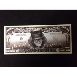 USA NOVELTY FRANKENSTEIN ONE MILLION DOLLAR BANK NOTE