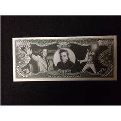 USA NOVELTY ELVIS PRESLEY ONE MILLION DOLLAR BANK NOTE