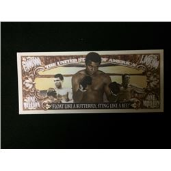USA NOVELTY MUHAMMAD ALI ONE MILLION DOLLAR BANK NOTE