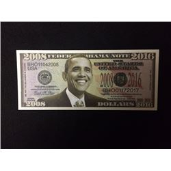 USA NOVELTY BARACK OBAMA ONE MILLION DOLLAR BANK NOTE