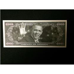 USA NOVELTY BARACK OBAMA MILLION DOLLAR BANK NOTE