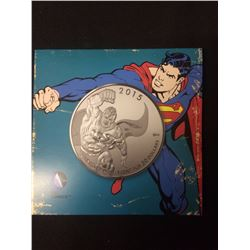 2015 SUPERMAN 9999 FINE SILVER TWENTY DOLLAR COIN