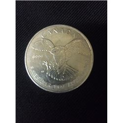 9999 ONE OUNCE FINE SILVER CANADIAN COIN