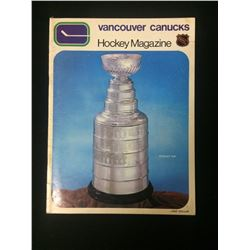 1970 VANCOUVER CANUCKS 1ST NHL PROGRAM STANLEY CUP COVER